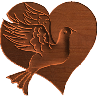 Dove on Heart