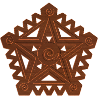 African Tribal Star