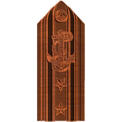 Military 2 Star Rear Admiral Shoulder Board
