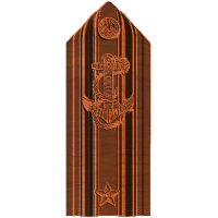 Military - Star Rear Admiral Lower Half Shoulder board
