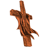 Cross (draped wooden)