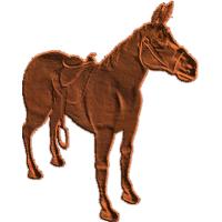 Horse with Saddle