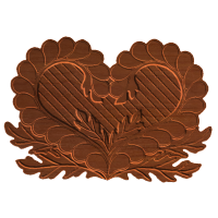 Heart Oak Leaf