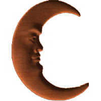 Face In Crescent Moon-CL