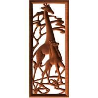 Giraffes With Border