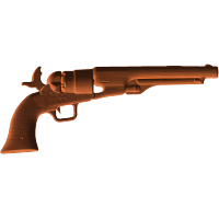 Ball and Cap Pistol - Cocked
