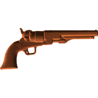 Ball and Cap Pistol - Right