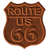 USA Route 66 Sign