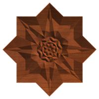 an 8 point rosette star
