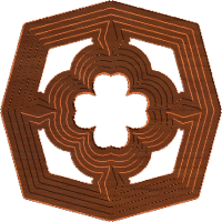 Four Leaf Clover Rosette