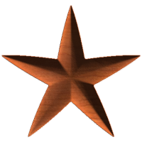 Five Point Rounded Star