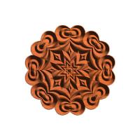 An 8 point star rosette