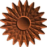 Sunburst Rosette 01 A