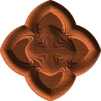 Gothic clover rosette 01 A