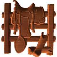 Western Saddle Boots Fence