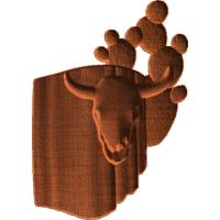 Western Cow Skull Cactus Blanket