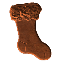 Christmas Stocking with Holly