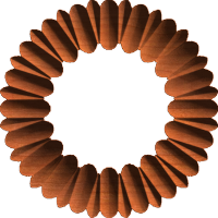 Ribbed Circular Frame, Border, or Accent
