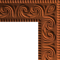 Neoclassic Leaf Trim or Moulding Corner 001 A