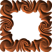 Swirl Wave Frame or Border 004 A