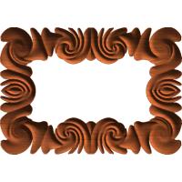 Neoclassic Swirl Frame or Border 003 A