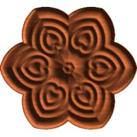 Rosette 6 Hearts