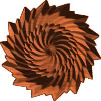 Faceted Daisy Diamond Spiral Rosette 003 A
