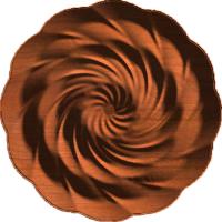 Triple Twirl Rosette 005 A