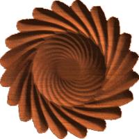 Spiral Sunflower Rosette 008 A