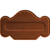 Classical Sign Plaque Blank 003 A