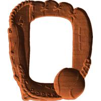 Baseball glove And Ball Frame