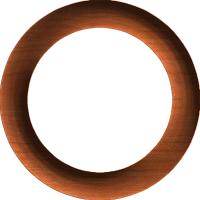 Circular Half-Round Frame or Border 002 A
