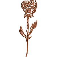 Woodcut Rose