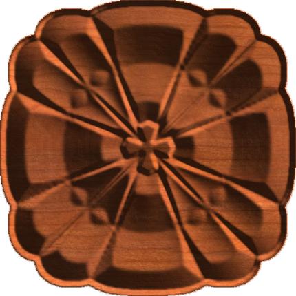 Renaissance Clover Rosette Tile
