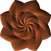 Spiral Star Centerpiece or Rosette 009 A