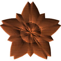 Leafy Star Rosette 001 A