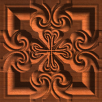 Celtic Heart Cross Tile 003 A