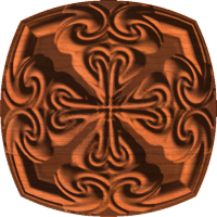 Celtic Heart Cross Rosette 006 A