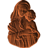 Mary And Baby Jesus Peace