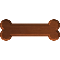 Dog Bone Nameplate Blank 003 A