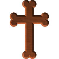 Stepped Gothic Cross 002 A