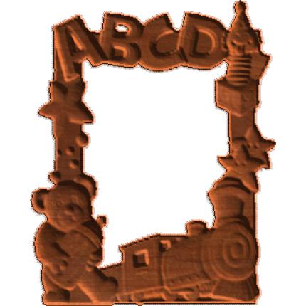 Children Frame - Teddy Bear - Toy Blocks