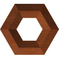 Beveled Hexagonal Frame
