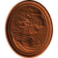 Woman Profile Plaque