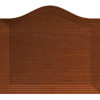 Fancy Arched Sign Blank or Cabinet Door Front 003 A