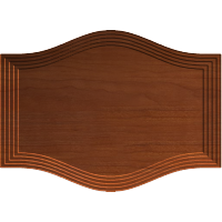 Arched Sign Blank or Cabinet Door Front 035
