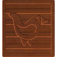 Block Letters Bird