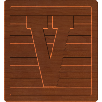 Block Letters V