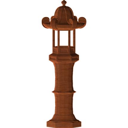 Chinese Lamp Post 2