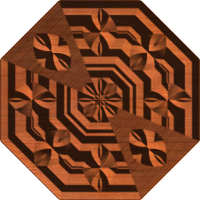 Octagonal Neo-Victorian Centerpiece,Tile, or Panel 003